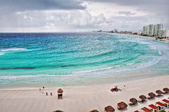 Aerial view of Cancun, Mexico. Stock Photos