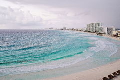 Aerial view of Cancun, Mexico. Royalty Free Stock Image