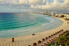 Aerial view of Cancun, Mexico. Royalty Free Stock Photo
