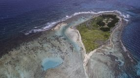 Aerial View cankys los roques venezuela royalty free stock photos