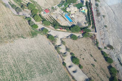 Aerial view of Cantalloc Aqueducts, Nazca, Peru. Royalty Free Stock Images