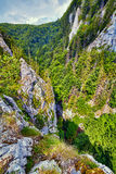 Aerial view of a canyon Stock Photo