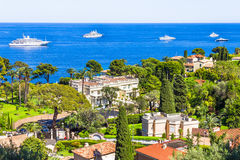 Aerial view of Cap Ferrat, French Riviera Royalty Free Stock Photography