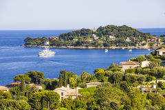 Aerial view of Cap Ferrat, French Riviera. Aerial view of Saint Jean Cap Ferrat, French Riviera Royalty Free Stock Images
