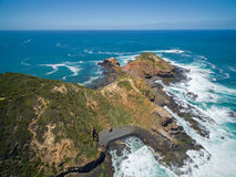 Aerial view of Cape Schanck, Australia Royalty Free Stock Images