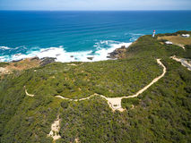 Aerial view of Cape Schanck Lighthouse, Australia. Stock Image
