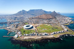 Aerial view of Cape Town. Overall aerial view of Cape Town, South Africa royalty free stock images