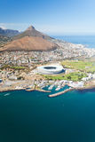 Aerial view of Cape Town stock photo