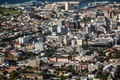 Aerial view of Cape Town Royalty Free Stock Photography