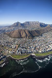 Aerial view of Cape Town Central royalty free stock photography