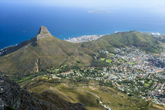 Aerial View of Cape Town Coastline Royalty Free Stock Image