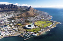 Aerial view of Cape Town. Overall aerial view of Cape Town, South Africa stock photography