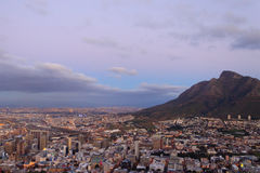Aerial view of Cape Town from Signal Hill, South Africa Stock Images