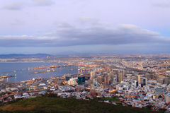 Aerial view of Cape Town from Signal Hill, South Africa Stock Photography