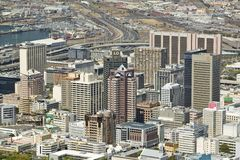Aerial view of Cape Town skyline from Table Mountain, South Africa Royalty Free Stock Photography