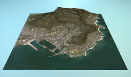 Aerial view of Cape Town vector illustration