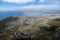 Aerial view of Cape Town from Table Mountain Stock Photos