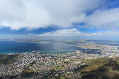 Aerial view of Cape Town from Table Mountain Royalty Free Stock Images