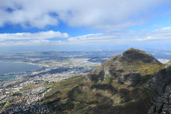 Aerial view of Cape Town from Table Mountain Stock Photo