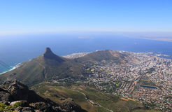 Aerial view of Cape Town Stock Image