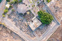 Aerial view of Capernaum, Galilee, Israel Royalty Free Stock Photo