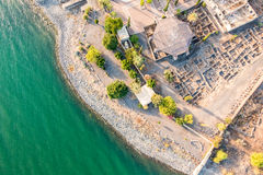 Aerial view of Capernaum, Galilee, Israel Royalty Free Stock Photos