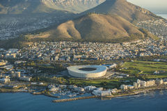 Aerial view of Capetown Stadium South Africa. An Aerial view of Capetown Stadium South Africa Royalty Free Stock Image