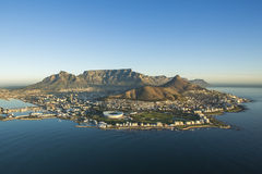 Aerial view of Capetown Table Mountain South Africa. An aerial view of Capetown Table Mountain South Africa Stock Images
