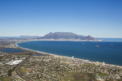 Aerial view of Capetown Table Mountain South Africa Stock Photos