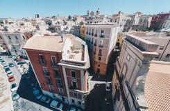 Aerial view of the capital of Sardinia from the tallest tower Stock Photography