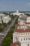 Aerial view of the Capitol building Stock Photo
