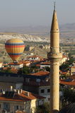 Aerial view of cappadocia town Stock Photo