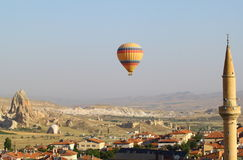 Aerial view of cappadocia town Stock Photography