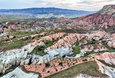 Aerial view from Cappadocia, Turkey. Royalty Free Stock Photos