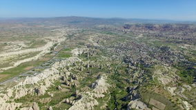 Aerial view of Cappadocia, Turkey stock video footage
