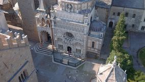 Aerial view of Cappella Colleoni in Bergamo, Italy.  stock footage