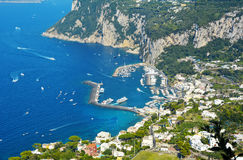Aerial view of Capri Island, Italy Royalty Free Stock Photography