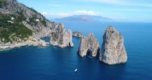 Aerial view of Capri Island stock footage