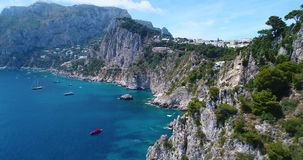 Aerial view of Capri Island stock video
