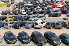 Aerial view car park Isala Hospital in Zwolle, The Netherlands Stock Photography