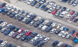 Aerial view of car park Stock Image