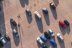 Aerial view of car parking Stock Photos