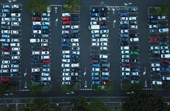 Aerial view of car parking Royalty Free Stock Photo