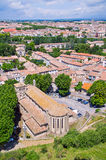 Aerial view on Carcassonne town. France Royalty Free Stock Photography