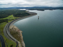 Aerial view of Cardinia Reservoir Lake and rural surroundings. Melbourne, Victoria, Australia Stock Photography