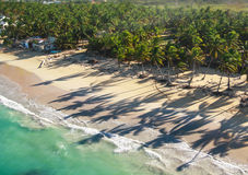 Aerial view of caribbean coastline Royalty Free Stock Image