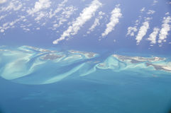 Aerial view of Caribbean islands. Royalty Free Stock Photography