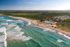 Aerial view of caribbean resort Royalty Free Stock Image