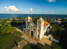 Aerial view of Carmo church in Olinda, Pernambuco, Brazil.  Stock Image