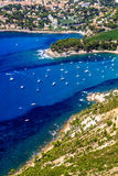 Aerial view on Cassis and Calanque Coast Royalty Free Stock Photos